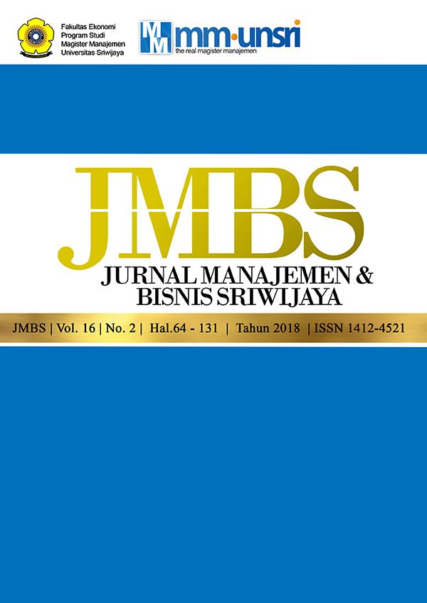 Jurnal Manajemen dan Bisnis Sriwijaya Vol.16 Vol.2 2018
